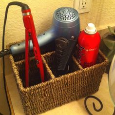 hair styling tools organizer basket