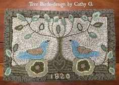 Image result for free rug hooking patterns Birds