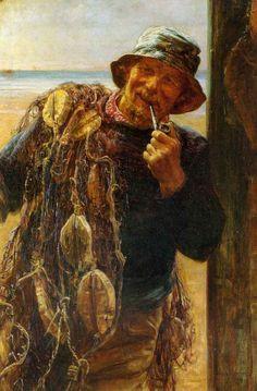 A Jovial Fisherman, Frederick Morgan