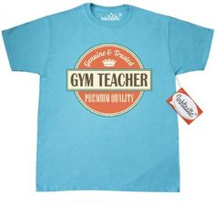 Inktastic Gym Teacher Gift T-Shirt Pe Physical Education Teaching Vintage School Back To Occupations Mens Adult Clothing Apparel Tees T-shirts Hws, Size: XL, Blue