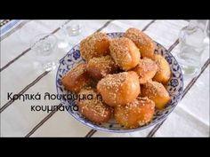 Κρητικά λουκούμια ή κουμπάνια - cretangastronomy.gr Greek Desserts, Confectionery, Pretzel Bites, Truffles, Food And Drink, Bread, Vegan, Sweet, Recipes
