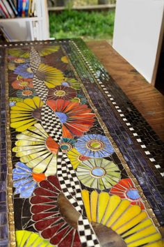Mosaic table by Janice Schmidt