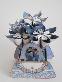Home Décor by Phillipa Lewis using Craftwork Cards Chambray & Lace Collection.