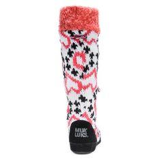 Women's Muk Luks Angie Fair Isle Heart Print Slipper Boots - Coral (Pink) XL(11-12), Size: XL (11-12)