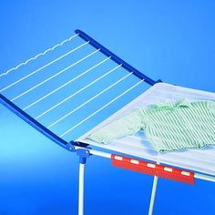 Pegasus 200 Deluxe. This is a stable and sturdy laundry airer with parallel supporting legs which offers up to 20 metres of drying space. Made from rust-free stainless steel this dryer includes fold out wings for additional drying space, 2 small item holders, crimped hanger bars with 5 wind-proof hangers, peg bag and a soft drying cloth for delicate items and folds away for easy storage.Product Code: TRA81530. Available from Howards Storage World.