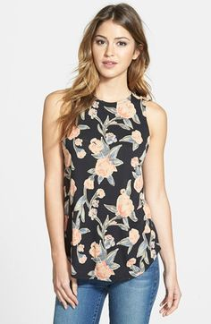 Free shipping and returns on Lucky Brand Floral Print Crossback Jersey Tank at Nordstrom.com. Overlapping panels wrapping the cutaway back leave a breezy opening in the asymmetrical shirttail hem of a floral print tank cut from lightweight jersey.