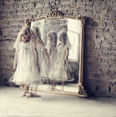 Picture it & Write July - little girl, dancer, mirror, reflection Mirror Reflection, Into The Fire, Magic Mirror, Mirror Image, Mirror Mirror, Mantle Mirror, White Mirror, Image Of The Day, Through The Looking Glass