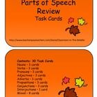 This set includes thirty half-page task cards. Each card includes a short activity for practice with one or more parts of speech. $