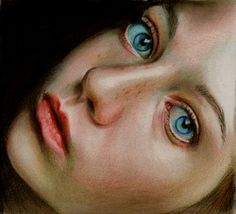 Brian Scott [Briscott] British painter, a self-taught, uses colored pencils, unique perspective, and captivating subjects to create stunning work. St Exupery, Brian Scott, Colored Pencil Techniques, Human Emotions, Stunning Eyes, Beautiful, Elements Of Art, Fantastic Art, Portrait Art