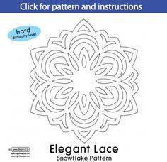 AngelStreetMom-ElegantLace Snowflake Pattern