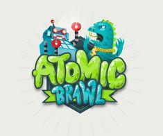 Creative Illustration, Atomic, Brawl, Vector, and Robot image ideas & inspiration on Designspiration 2 Logo, Bold Logo, Typography Logo, Bg Design, Game Logo Design, Graphic Design, Game Font, Game Ui, Video Game Logos