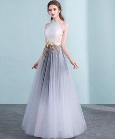 Gray gradient tulle long prom dress, gray evening dress - Source by Kleider Grey Evening Dresses, Elegant Dresses, Pretty Dresses, Beautiful Dresses, Formal Dresses, Lace Prom Dresses, Dresses Uk, Evening Gowns, Vestidos Vintage