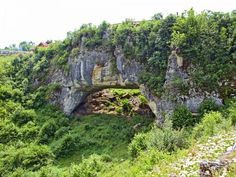 Podul lui Dumnezeu (God's Bridge), the Ponoarele commune, Mehedinți County. This natural bridge has length 30 meters and width 13 m., 22 m. high and 4 m. Places Worth Visiting, Places To Visit, Wonderful Places, Beautiful Places, Natural Bridge, Tourist Places, Castle, Europe, Country