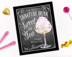 Wedding Decoration Signature Drink Sign by RockinChalk on Etsy