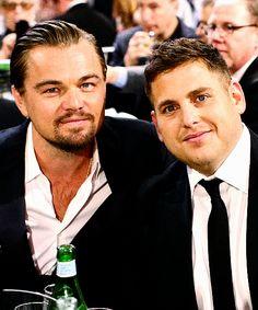 Leonardo DiCaprio and Jonah Hill at the Critics Choice Awards