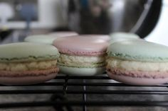 Blackberry and apple macarons