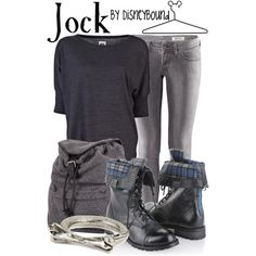 Check out this outfit with combat boots!