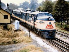 LN Passenger train passing Cartersville, GA led by E-6 units.