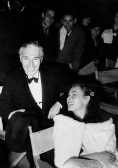 marthaivers:   Charlie Chaplin and Paulette Goddard at Max Reinhardt's production of Shakespeare's A Midsummer Night's Dream at the Hollywood Bowl, 1934