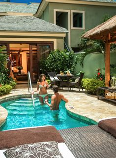 Love Nest Suites with private pools at Sandals Resorts. There is nothing more romantic than your very own lover's hideaway. Come to Sandals Negril and experience the magic of Jamaica. Small Swimming Pools, Luxury Swimming Pools, Luxury Pools, Small Pools, Dream Pools, Swimming Pools Backyard, Swimming Pool Designs, Pool Landscaping, Backyard Pool Designs