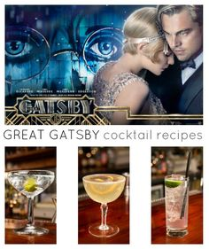 Go Gatsby with these 5 fabulous cocktail recipes #GreatGatsby #Gatsby #Cocktail