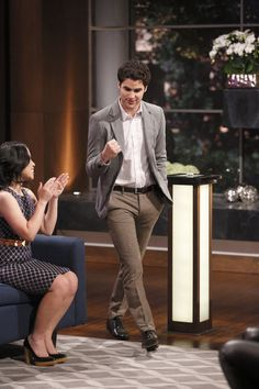 Darren Criss Reunites With Jane Lynch on Hollywood Game Night (PHOTOS)
