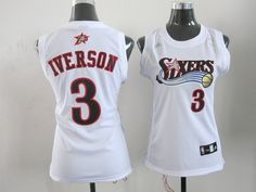 Cheap NBA Jerseys, Good Qaulity NBA Jerseys,Best NBA Jerseys,Cheap NBA Jerseys from China,China NBA Jerseys,Cheap  Free Shipping,Nike NFL Jersey Adidas Philadelphia 76ers Iverson 3 White Women NBA Jersey:$19