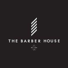 The Barber House on Behance Modern Barber Shop, Barber Shop Interior, Barber Shop Decor, Album Design, Logo Barbier, Wm Logo, Lettering Design, Logo Design, Barber Business Cards