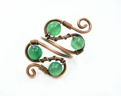 Wire ring ring in handmade copper ring wire wrap by MargosHandmade