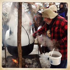 Making maple syrup at Winterlude 2013 in Ottawa, Canada. For more information on Winterlude visit http://www.ottawatourism.ca/en/visitors/top-attractions/winterlude
