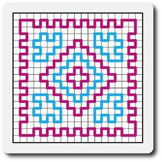 Made in K-town: Wiggly Tutorial Wiggly Crochet Patterns, Crochet Mandala Pattern, Crochet Diagram, Basic Crochet Stitches, Crochet Squares, Crochet Blocks, Crochet Hot Pads, Crochet Mat, Crochet Potholders