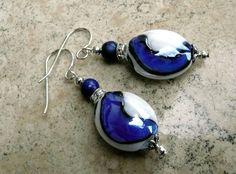 Genuine Lapis Lazuli Hand Blown Dichroic Glass by IslandGirl77