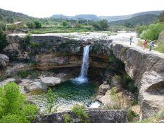 Foto de 0394F Cascada del Salto en La Portellada. Comarca del Matarraña. Rutas con Niños 10/5/13
