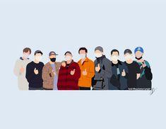 Exo Stickers, Preppy Stickers, Chibi Wallpaper, Cartoon Wallpaper, Kawaii Wallpaper, Exo Cartoon, Kpop Logos, Exo Anime, Exo Songs