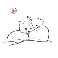 cute animals to draw Katzenartige Kunstpostkarten Cat Template, Stencil Templates, Cat Tattoo Designs, Cat Quilt, Cat Silhouette, Cat Crafts, Cat Drawing, Animal Drawings, Drawing Animals