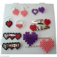 DIY Hama perler bead jewelry
