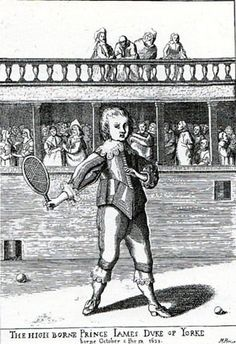 #Throwback to 17th Century: James II of England (1633-1701) playing #tennis :)