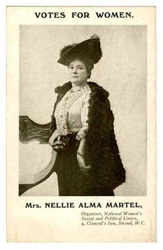 Postcard of Mrs Nellie Alma Martel, Organiser, Women's Social and Political Union Amazon Girl, Suffrage Movement, Women In History, British History, Brave Women, Great Women, Mothers Love, Strong Women, Persona