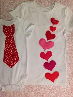 Piedy Made t-shirt for big sister and onesie for little brother for Valentine's Day.
