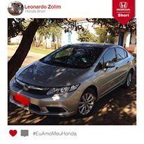 Leonardo Zolim está tranquilo curtindo uma brisa com seu Honda Civic. Porque nossos clientes não têm dor de cabeça!  Participe você também! Envie a foto do seu Honda. #EuAmoMeuHonda