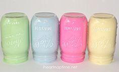 Spring Mason Jars and Printable on I Heart Nap Time