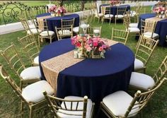 Trendy Wedding Garden Party Dress Table Settings 16 Ideas Trendy Wedding Garden Party Dress Table Settings 16 Ideas, … - New Sites Sweet 16 Decorations, Quince Decorations, Gold Wedding Decorations, Party Table Decorations, Decoration Table, Deco Violet, Navy Blue And Gold Wedding, Quinceanera Centerpieces, Garden Party Wedding