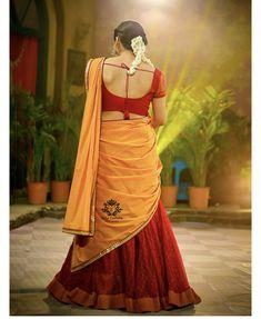 Kerala Traditional Saree, Half Saree Designs, Indian Girls Images, Blue Saree, Saree Look, Indian Beauty Saree, Blouse Styles, Bollywood Fashion, Saree Blouse