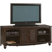 """Sauder Harbor View Entertainment Credenza for TVs up to 62"""", Antiqued Paint $145  25"""" HIGH"""