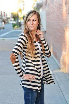 open striped cardigan from so perla