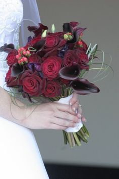 Black Burgundy Green Ivory Bouquet - WeddingWire.com