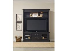 The charming Clermont Two Piece Entertainment Group is crafted using poplar solids and cherry veneers.