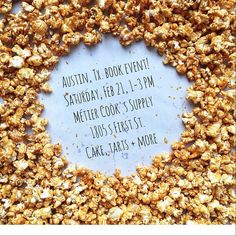Austin, I made you my famous Québec Ice Cider Caramel Corn, and in return I will eat your barbecue. I hope to see you at this event! We will sample treats and talk about  #BrownEggsJamJars. Check out @metieraustin's website for further information. #atx