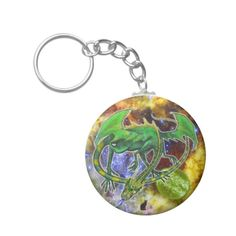Emerald Cosmic Dragon Keychain. Beautiful, fearsome, incredibly powerful and wise, Emerald represents your inner being. Use this Keychain with pride and confidence, for you possess the spirit of a Cosmic Dragon. Your ride will run stronger and faster since the Cosmic Dragon keychain is a conduit for cosmic energy. Over 3000 products at my Zazzle online store. Open 24/7 World wide! http://www.zazzle.com/greg_lloyd_arts*?rf=238198296477835081