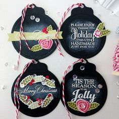 Great idea to use chalkboard paint on gift tags - can be reused each year if you use chalk to write recipient's name.